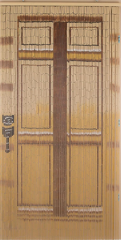 BeadedString Bamboo Wood Beaded Curtain-90 Strands-80 High-35.5 Wide-Bohemian Door Beads-Door BV061-026