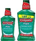 Colgate Plax Mouthwash - 250 ml (Fresh Mint) with Plax Mouthwash - 500 ml (Fresh Mint)