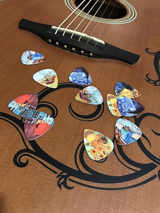 Juego de púas de guitarra de obras de Vincent Van Gogh – Set de ...