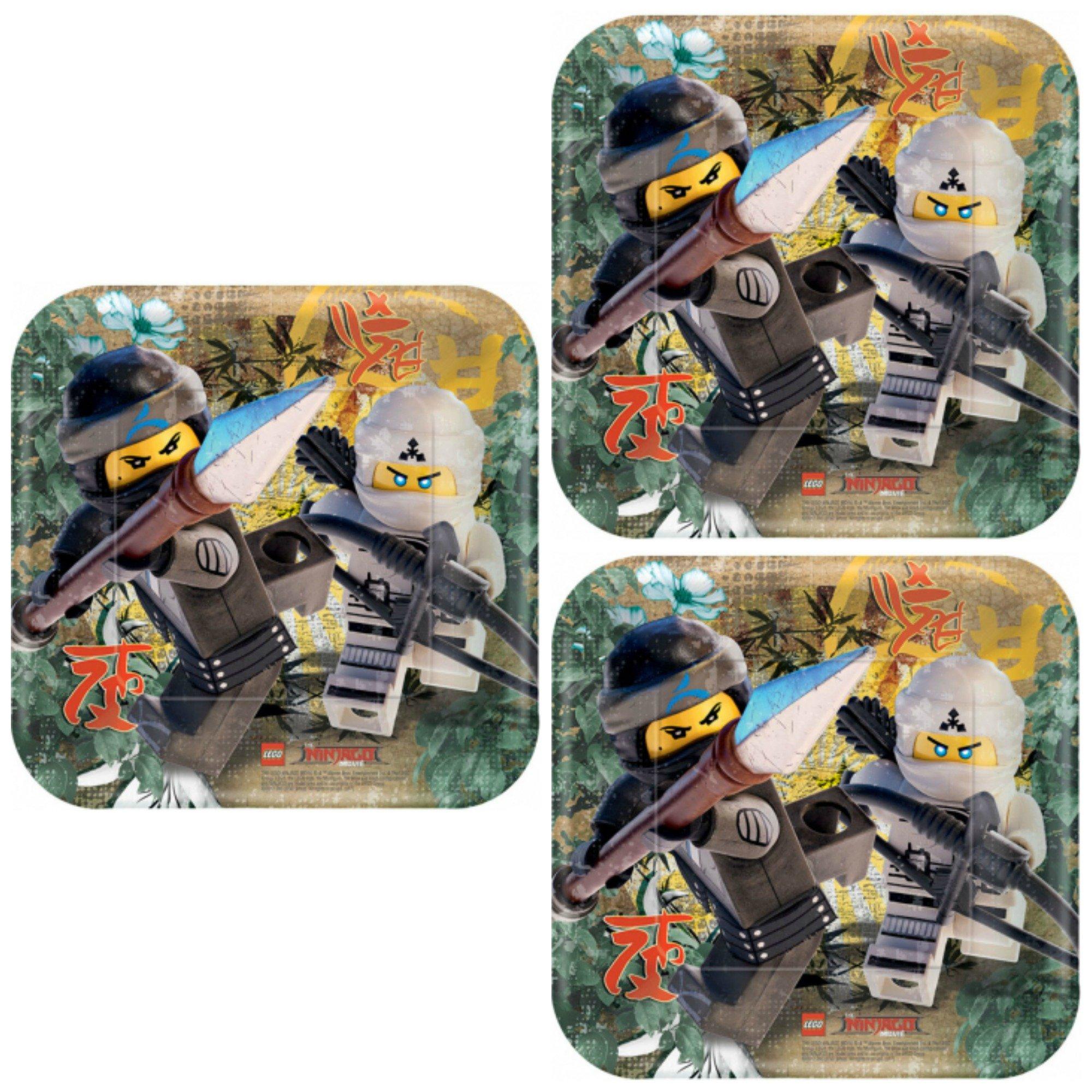 Lego Ninjago 24 Pack 7'' Plates Dessert Birthday Party Supplies
