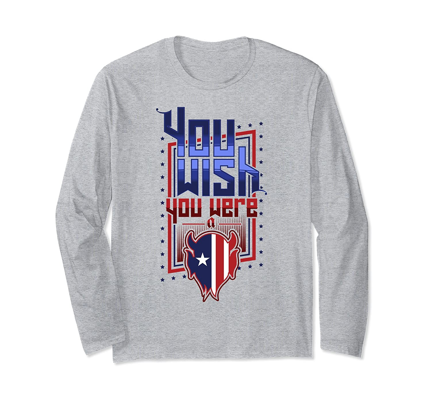You Wish You Were a Zanesville Blue Devil Long Sleeve Tee-mt
