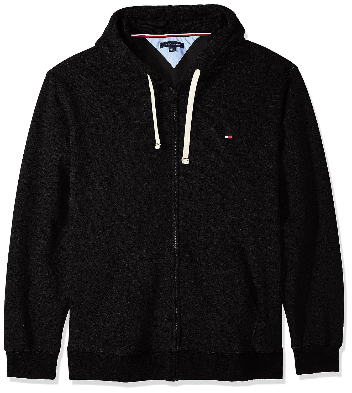 Tommy Hilfiger Cotton Fleece Hoody in Navy Blue hoodie hooded full zip sweat