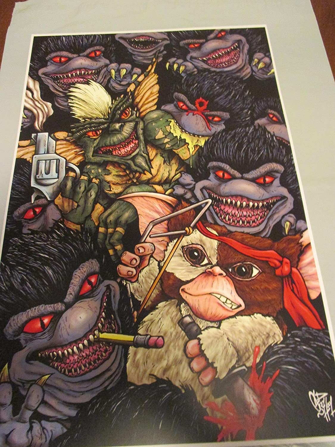 GREMLINS VS CRITTERS FULL COLOR !!PRINT 11' By 17' 'THE ART OF OLD SCHOOL 'approved Dealer limited edition GREMLINS VS CRITTERS FULL COLOR !!PRINT 11 By 17 ' THE ART OF OLD SCHOOL ' approved Dealer limited edition