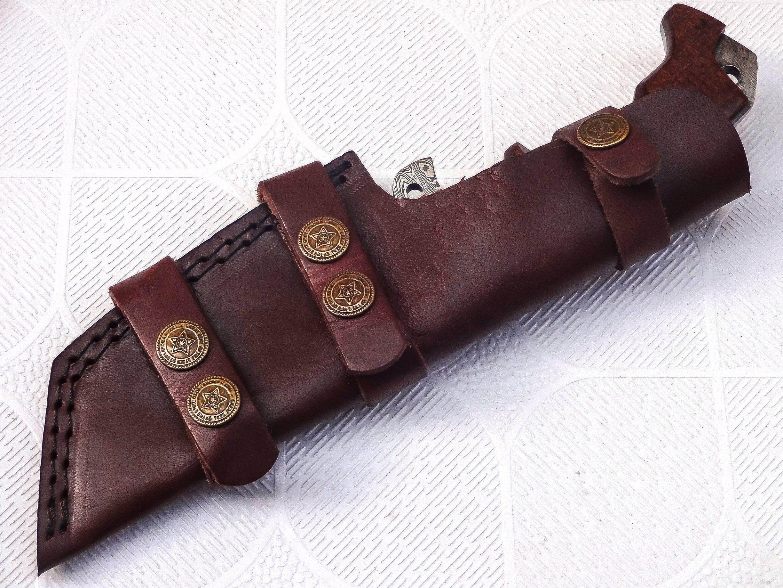 Poshland TR-301, Custom Handmade Damascus Steel Tracker Knife - Stunning Handle by Poshland (Image #8)
