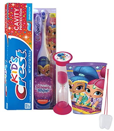 "Shimmer And Shine Inspired ""Shine"" 4pc Bright Smile Oral Hygiene Set! Turbo"