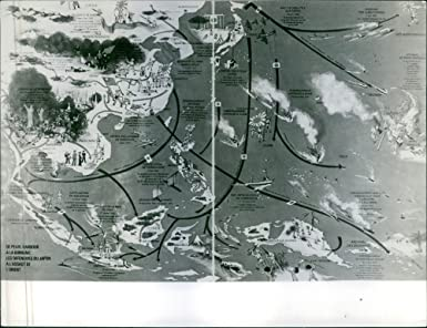 Aerial Map Of Japan.Amazon Com Vintage Photo Of A Illustration Of Map During Japan War