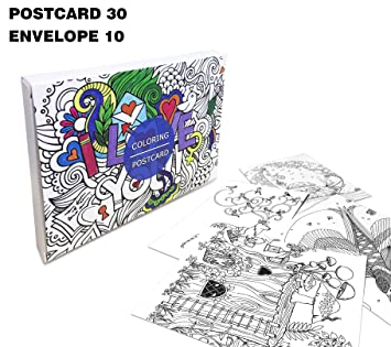 Amazon creative coloring greeting cards postcards diy stress creative coloring greeting cards postcards diy stress relieving coloring book to color and share m4hsunfo