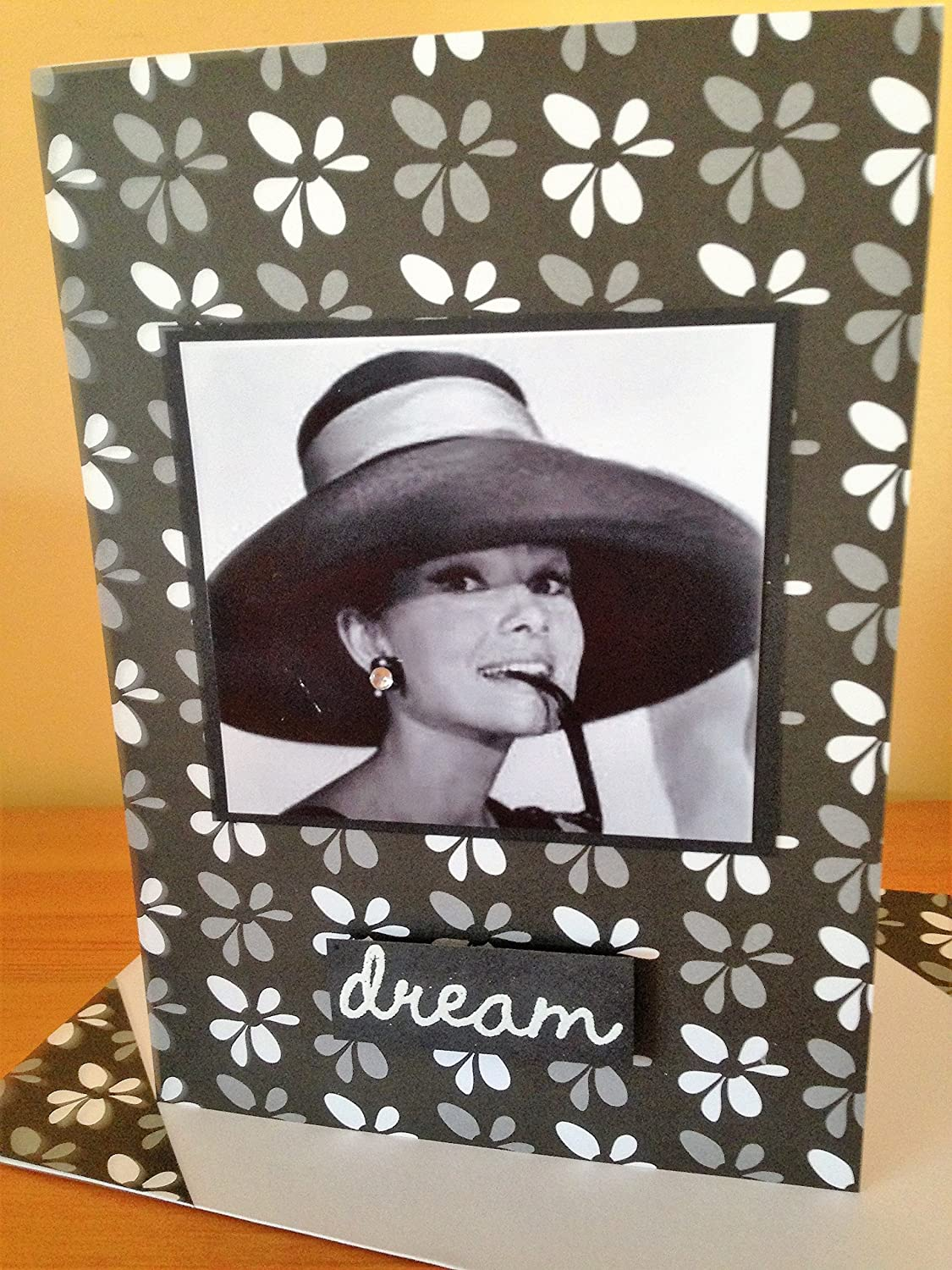 Audrey HEPBURN famous British actress and Fashion icon Vintage themed Unique birthday wishes card Love DREAM Romance matching envelope A6//C6 size