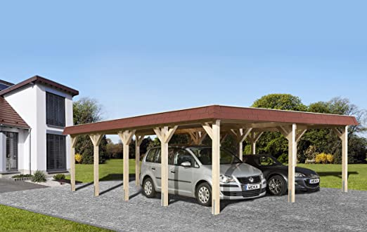 Weka cola para madera de tejado plano de doble CarPort 615 Talla 2: Amazon.es: Jardín