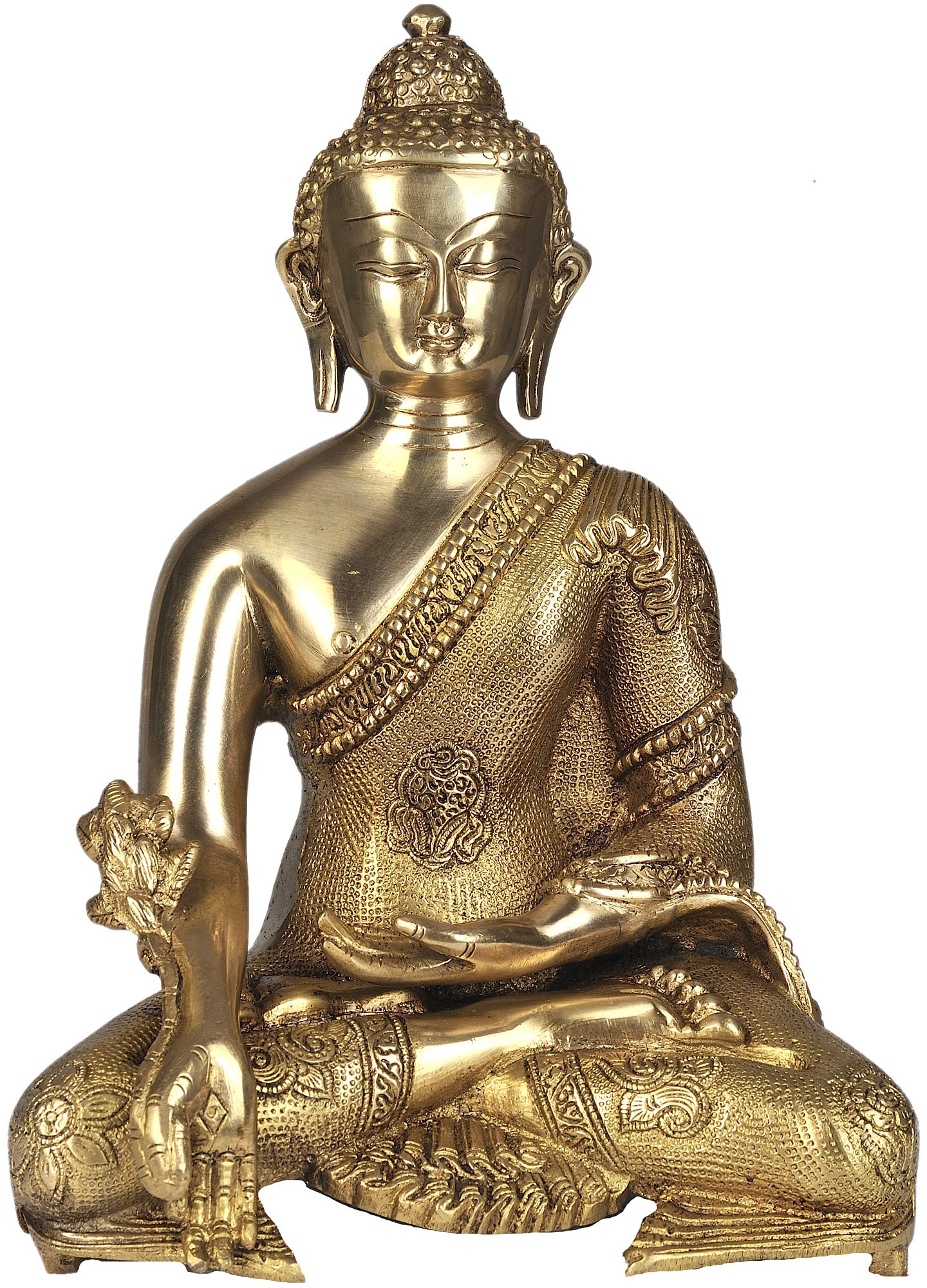 The Medicine Buddha - Brass Statue by Exotic India (Image #1)