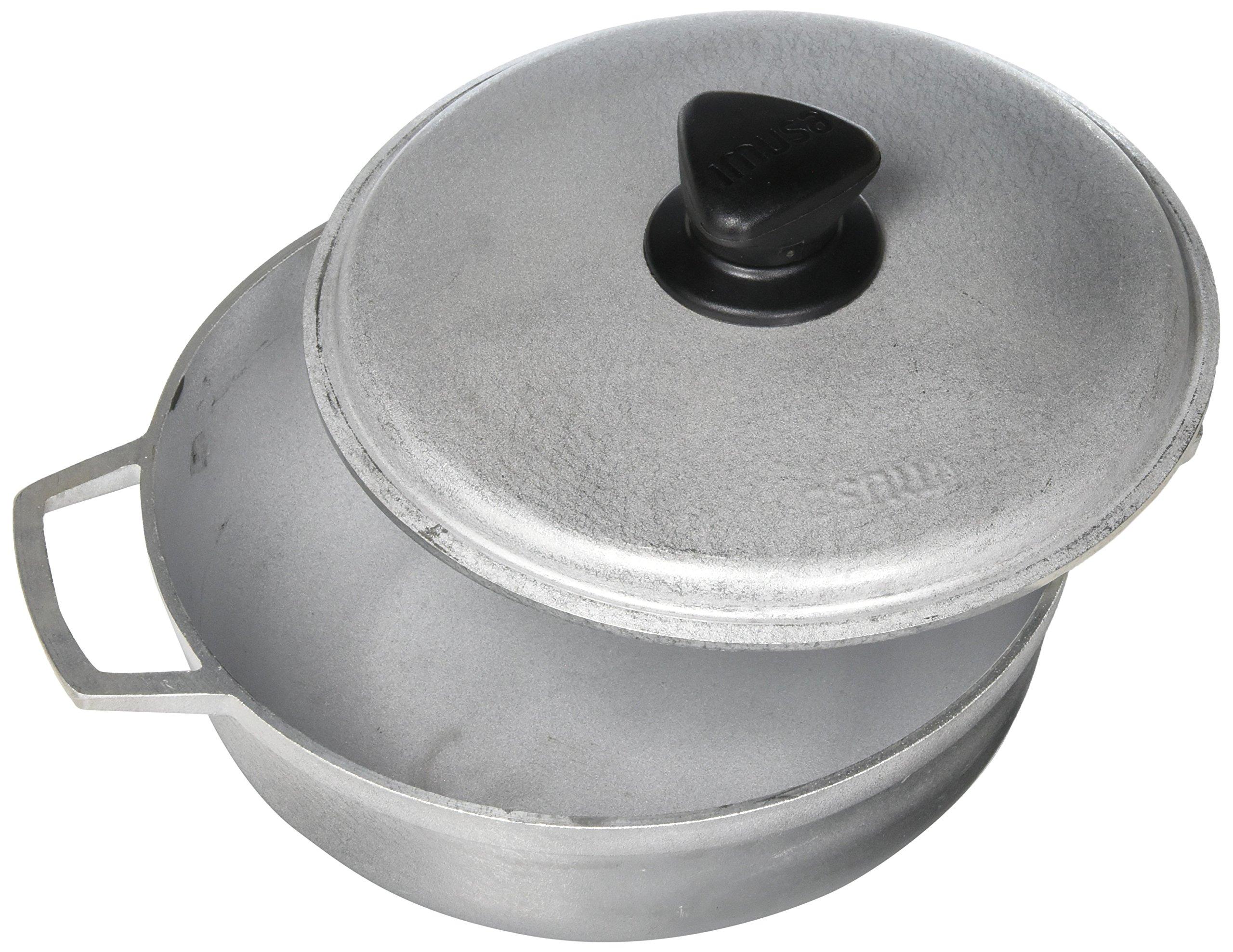 IMUSA USA GAU-80503 Traditional Aluminum Colombian Natural Caldero 12.6-Quart, Silver