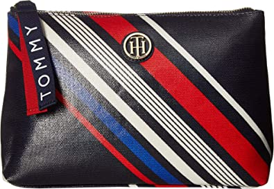 4ddabcdd5bce0 Tommy Hilfiger Women's T-Bottom Pouch Diagonal Stripe Navy/Multi One ...