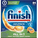 2-Pack 84-Count Finish All-in-1 Gelpacs Dishwasher Detergent Tablets