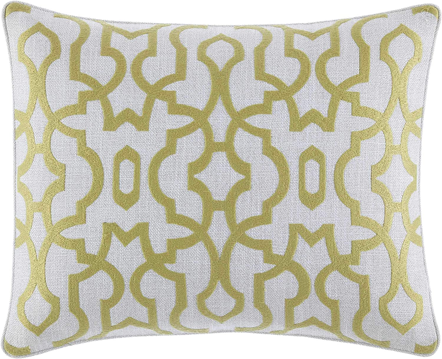 Tommy Bahama Palmiers Embroidered Trellis Throw Pillow, 16x20, Medium Green