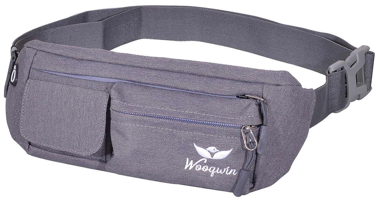 woogwin Waist Bag Fanny Pack Travel Running Hiking Bags Water Resistant Sling Chest Shoulder Bag Phone Holder Running Belt with Adjustable Band