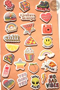 Squish Me Stickers Puffy Sticker, 25pcs Jumbo Size, 3D Stickers for Scrapbooking, Kids Craft Sticker Set, for Collectors