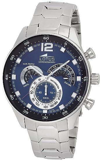 Reloj de Pulsera de la Marca Lotus. Analógico, con Mecanismo de Cuarzo, para Hombre, Acero Inoxidable: Lotus: Amazon.es: Relojes