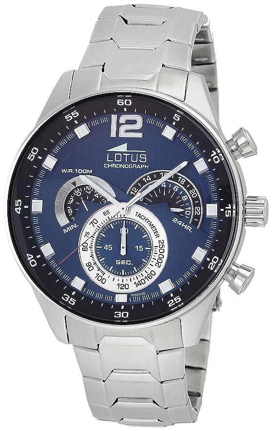 a891ed902 Reloj de Pulsera de la Marca Lotus. Analógico, con Mecanismo de Cuarzo, para  Hombre, Acero Inoxidable: LOTUS: Amazon.es: Relojes