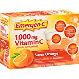 Emergen-C (30 Count, Super Orange Flavor) Dietary Supplement Drink Mix with 1000 mg Vitamin C, 0.32 Ounce Packets, Caffeine Free