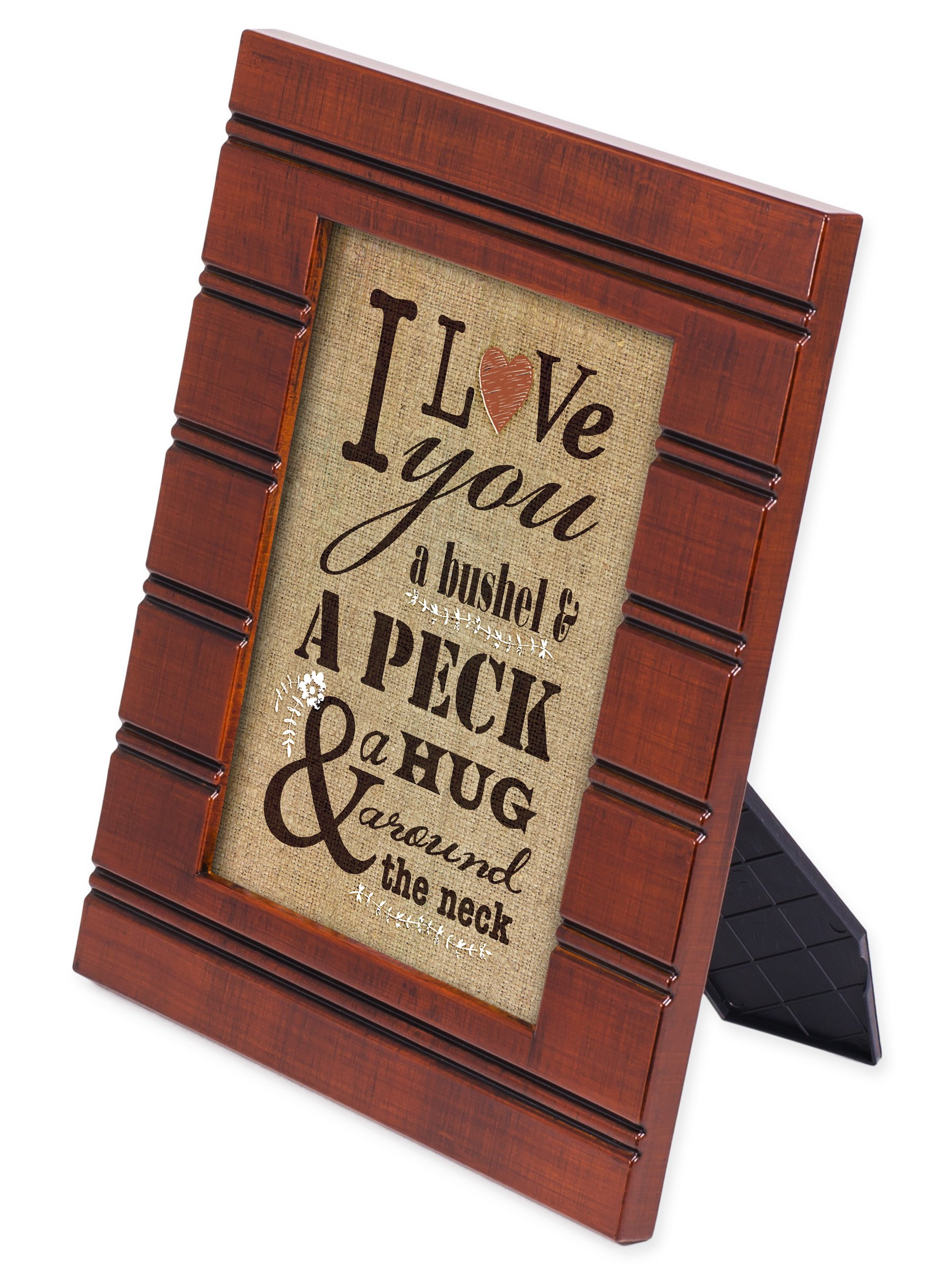 I Love You A Bushel & A Peck Wood Finish 5 x 7 inch Framed Art Plaque by Cottage Garden (Image #1)