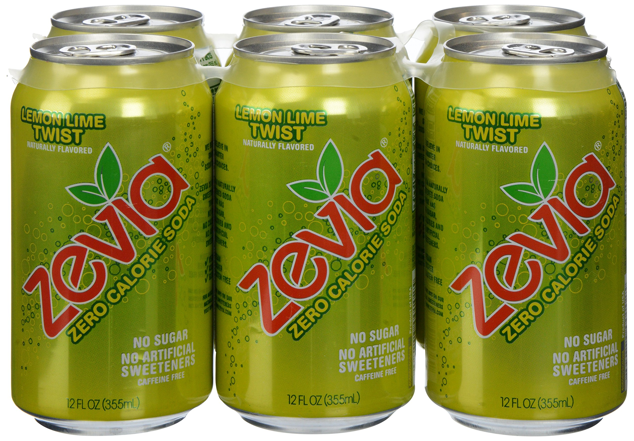 Zevia Natural Twist Soda, Sugar Free, 12 oz, 6 pack