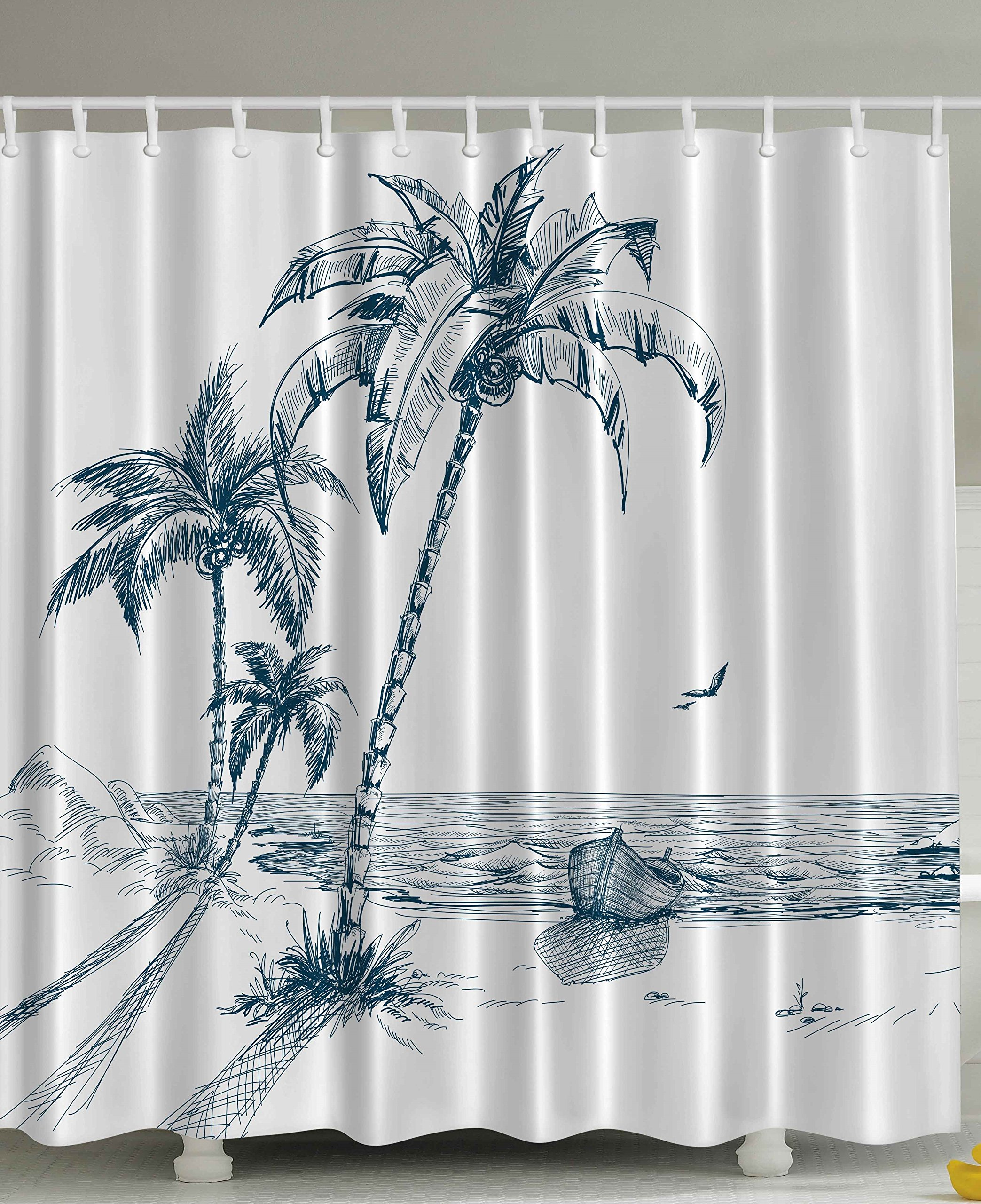 Palm Tree Shower Curtain: Amazon.com