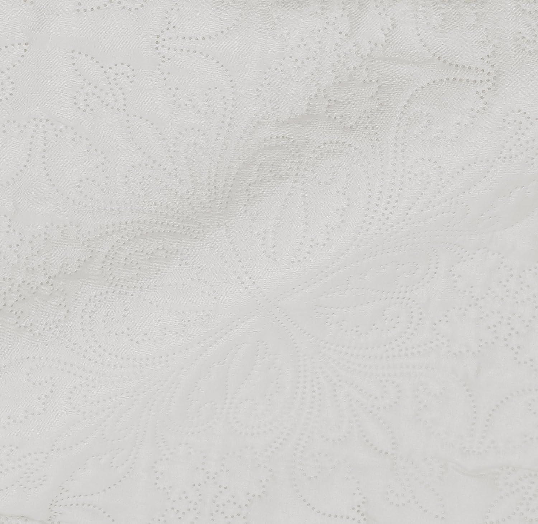 floral 170 x 210 cm Colcha labrada extragrande Azul spa Basics