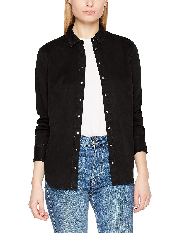 Calvin Klein Regular Shirt Tencel LS Blusa para Mujer