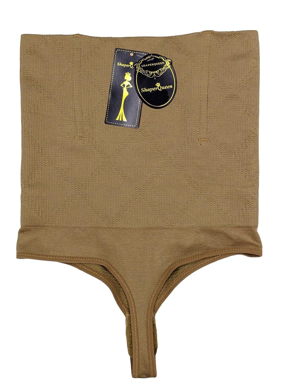 c6a669f5269 ... ShaperQueen 102 Thong (Open) - New Women Waist Cincher Girdle Tummy  Slimmer Sexy Thong ...