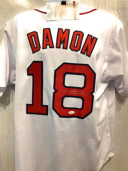 eff96be893e Johnny Damon Boston Red Sox Signed Autograph Custom Jersey JSA Witnessed  Certified