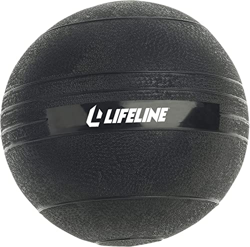 Lifeline Rubberized, Non-Bounce Weighted Exercise Slam Ball with Easy to Grip Surface
