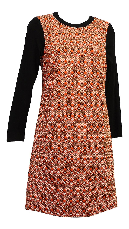 4336d0ff03d Retro 1960s Style Gogo Orange Black MOD Scooter Twiggy Mini Tunic Dress   Rosa Rosa  Amazon.co.uk  Clothing