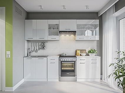 Credenza Con Cucina Incorporata : Martha weißlackiert cm cucina incorporata amazon casa e