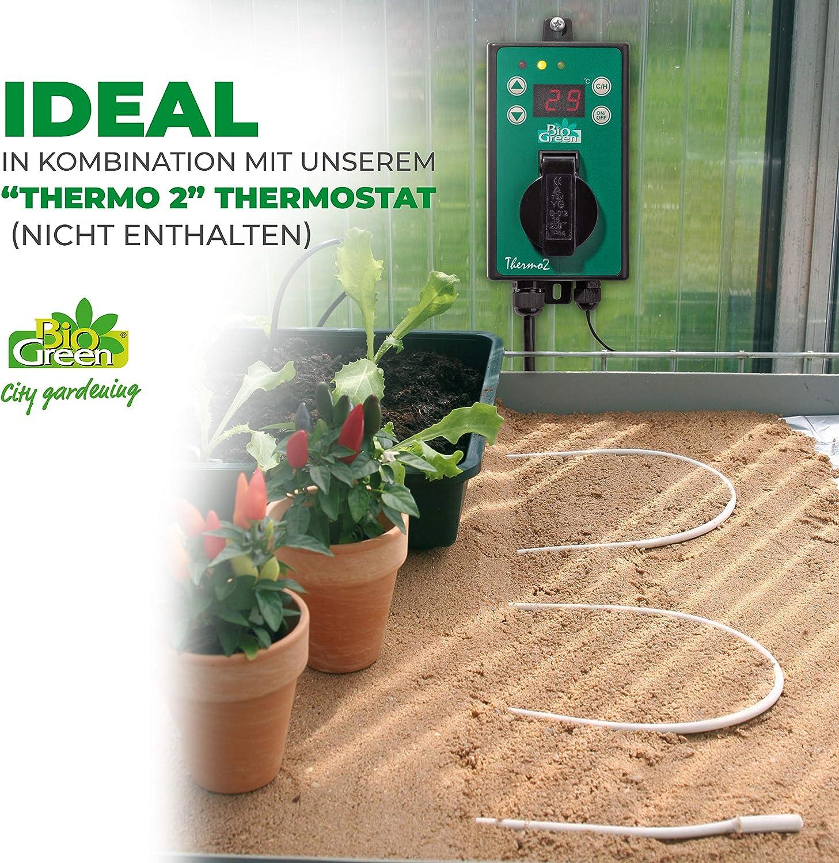 Bio Green Aufzuchtartikel Silikon Bodenheizkabel Weiß 6 0m 50 W Garten
