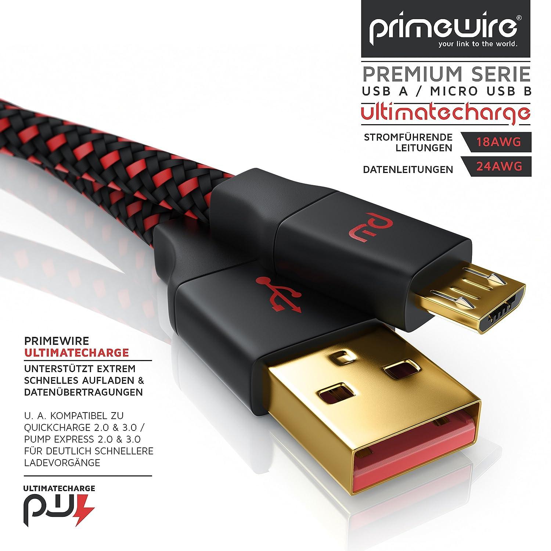CSL - 1m Micro USB Schnellladekabel mit: Amazon.de: Computer & Zubehör