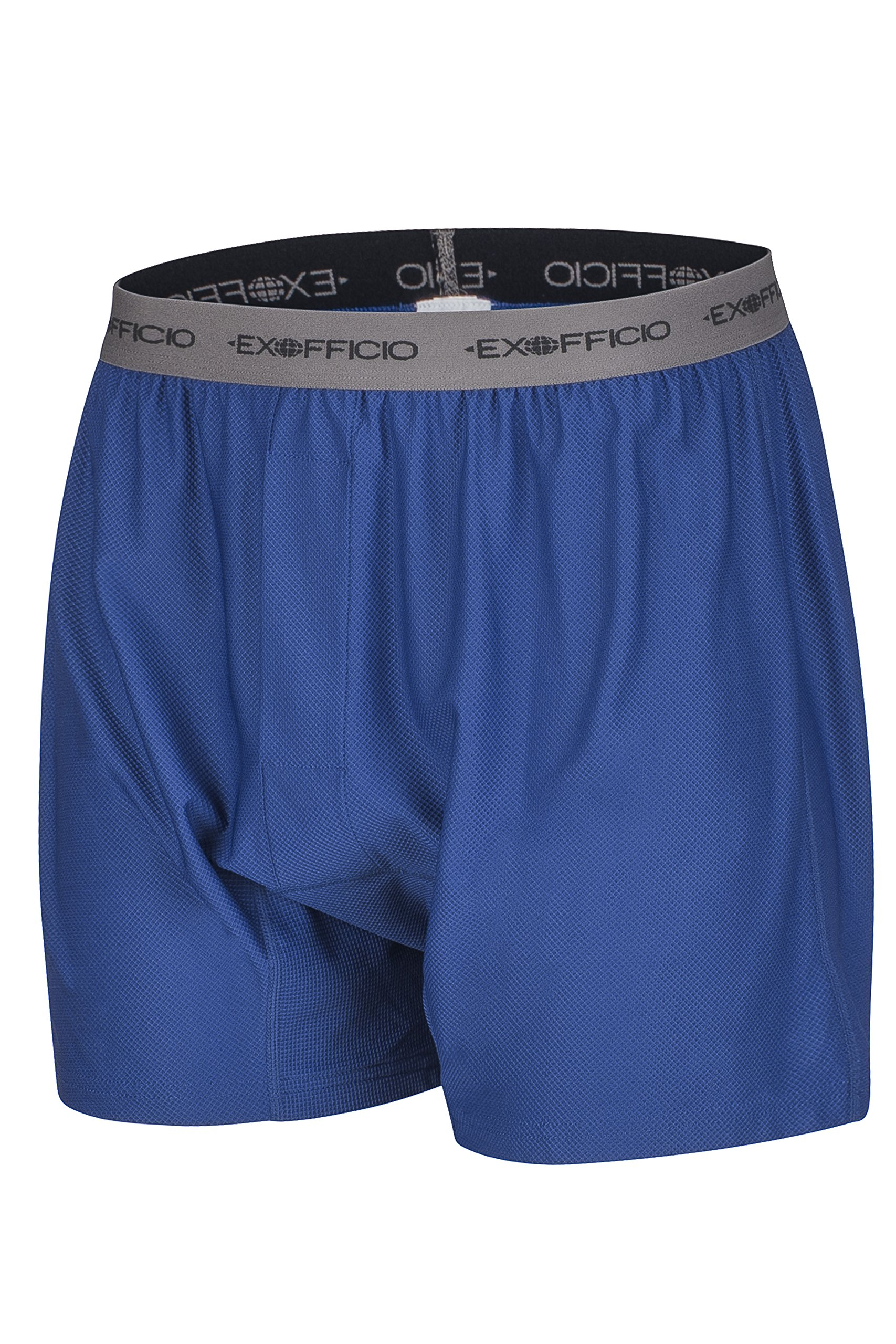 ExOfficio Men's Give-N-Go Boxer,Admiral/Grey,Medium