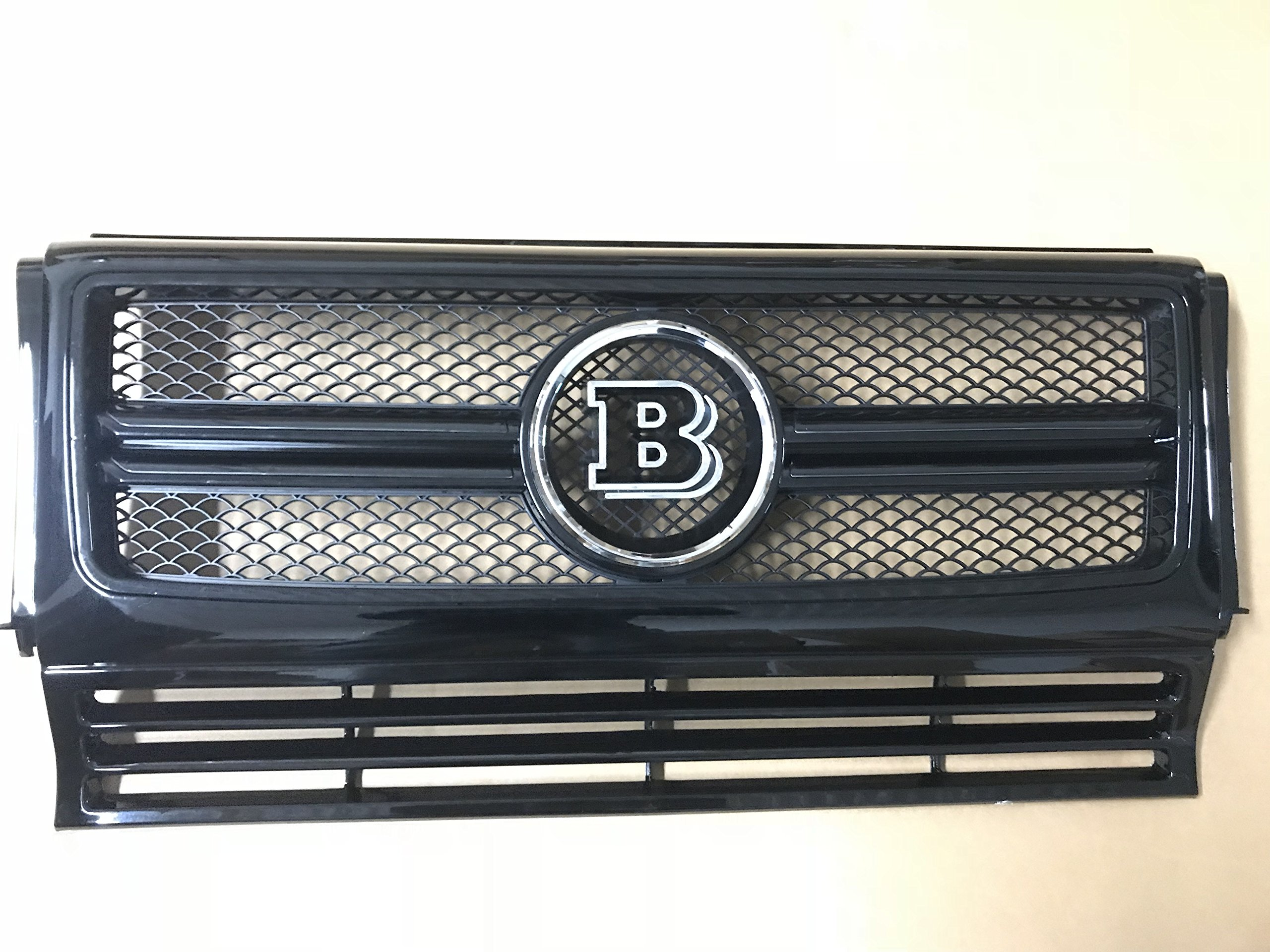 ALL BLACK G-Wagon W463 BRABUS-Style G65 W463 Conversion Grille Complete Fit For Mercedes-benz G500 G550 G63 Grille (Chrome B)