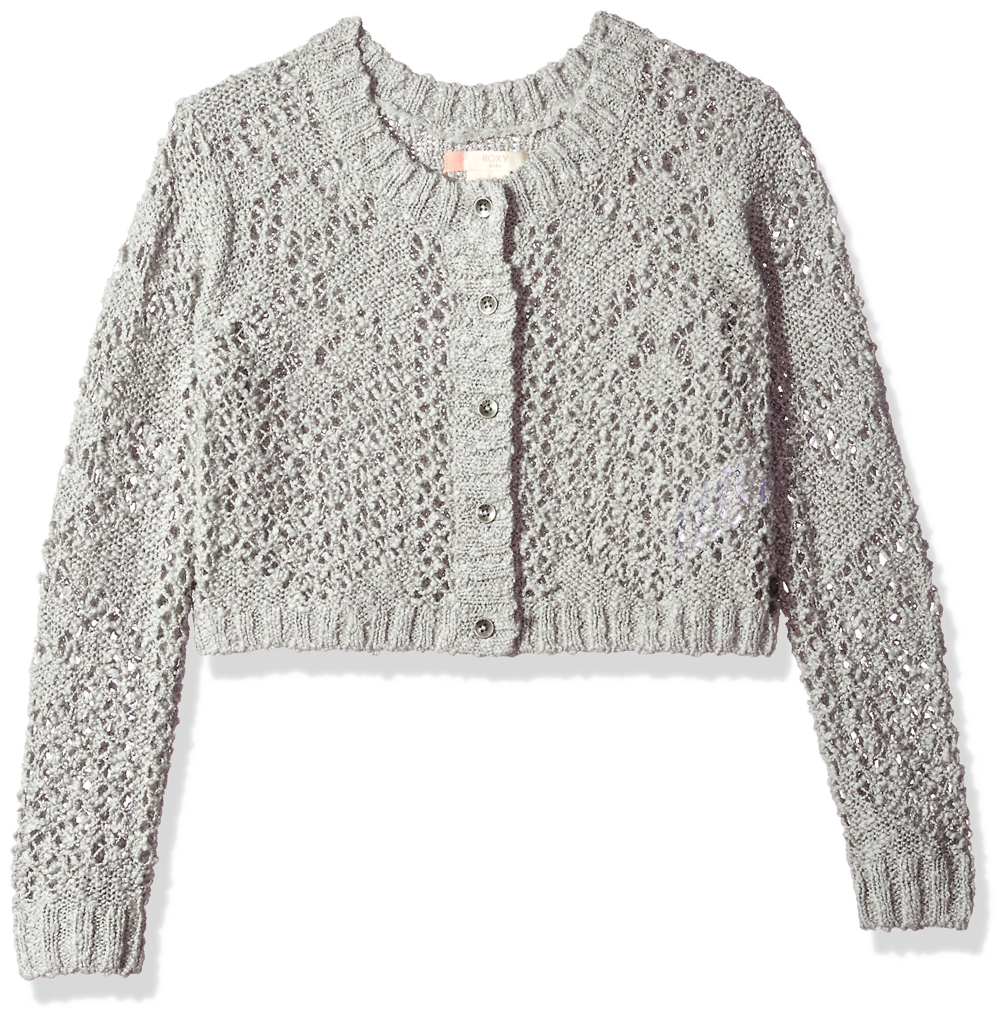 Roxy Big Girls' High Friendship Sweater, Heritage Heather, 10/M