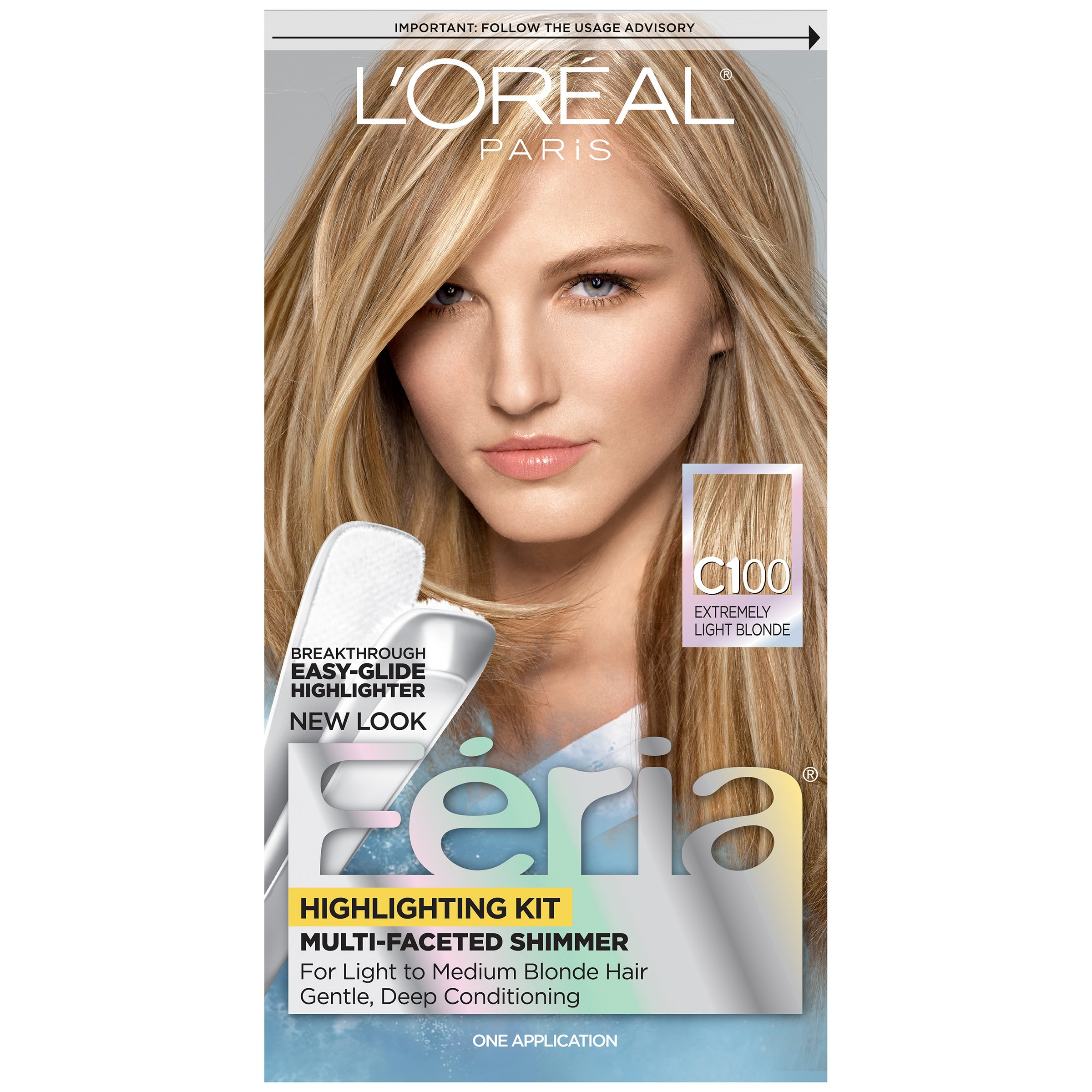 L'Oréal Paris Feria Permanent Hair Color, C100 Star Lights Extreme (Highlighting Kit)
