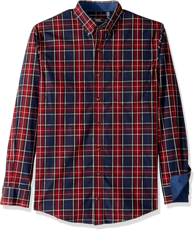 Izod Big and Tall Long Sleeve Tartan Non Iron Plaid Shirt Camisa con Cuello Abotonado para Hombre: Amazon.es: Ropa y accesorios