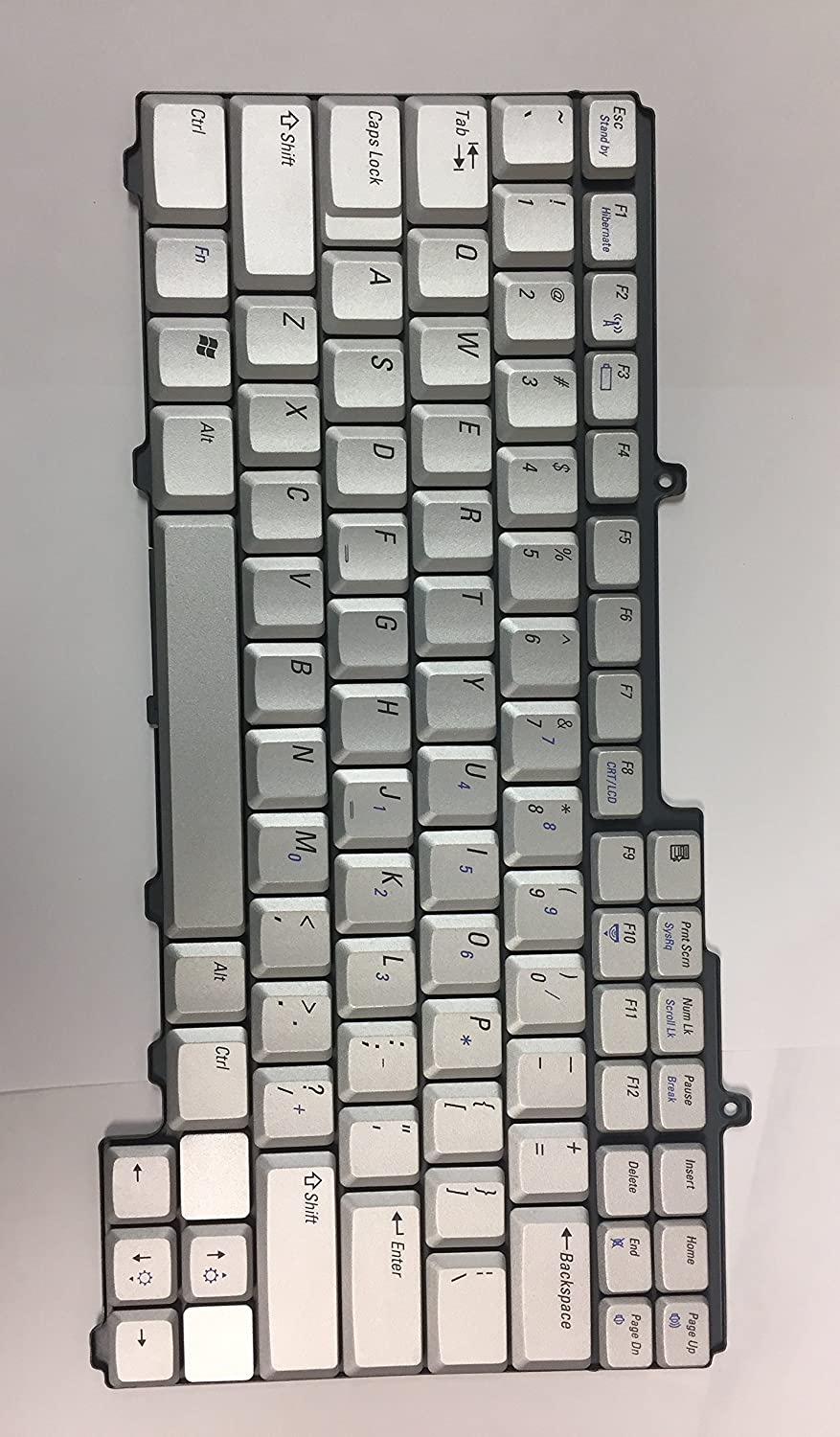 0WG343 Dell Inspiron XPS M1710 Grey OEM Replacement Laptop Keyboard