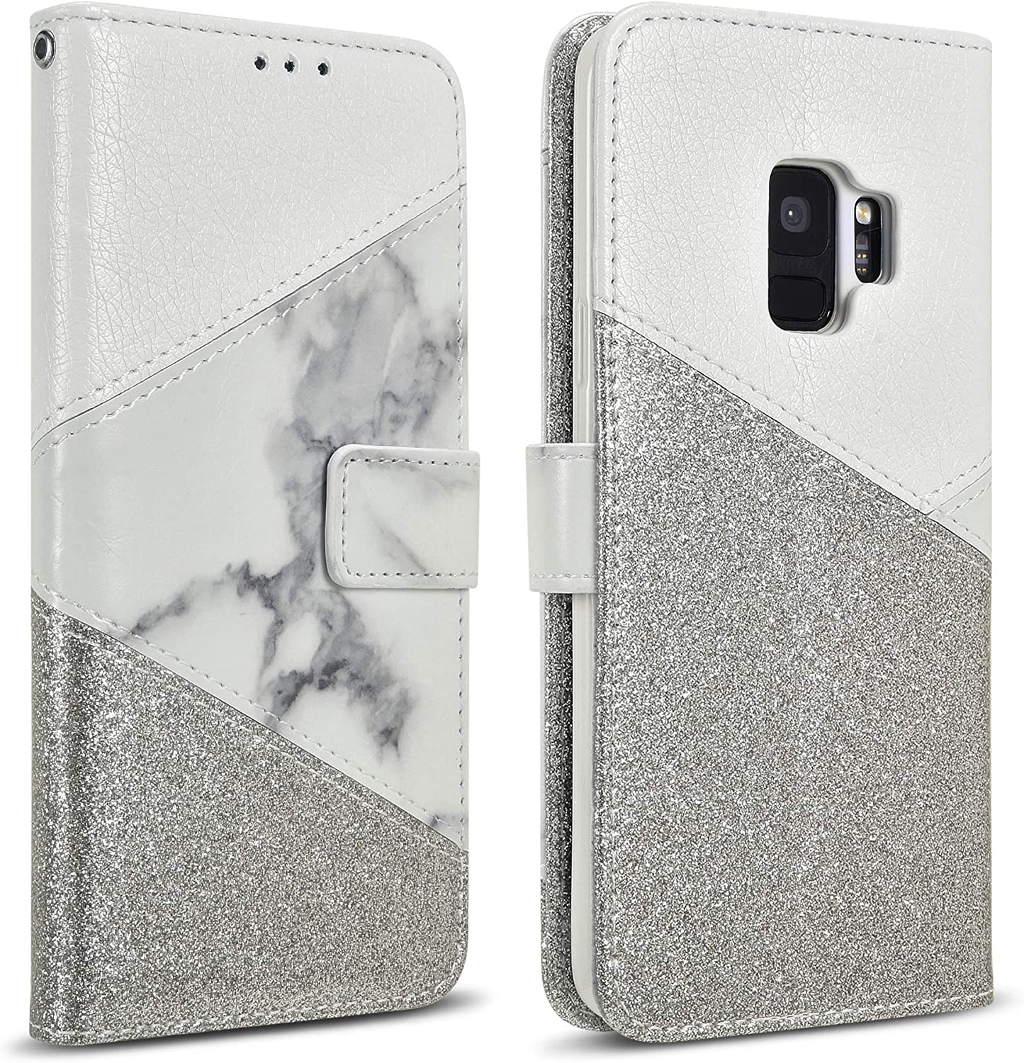 iPhone 7 Plus Case Coupon Wrist Wallet Galaxy S8 Purse Cell Phone Wristlet Bag Marble iPhone 8 Wristlet gray white marble