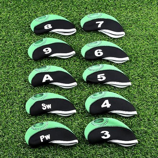 Amazon.com: 10 piezas Golf Club Hierro Cabeza cubierta de ...