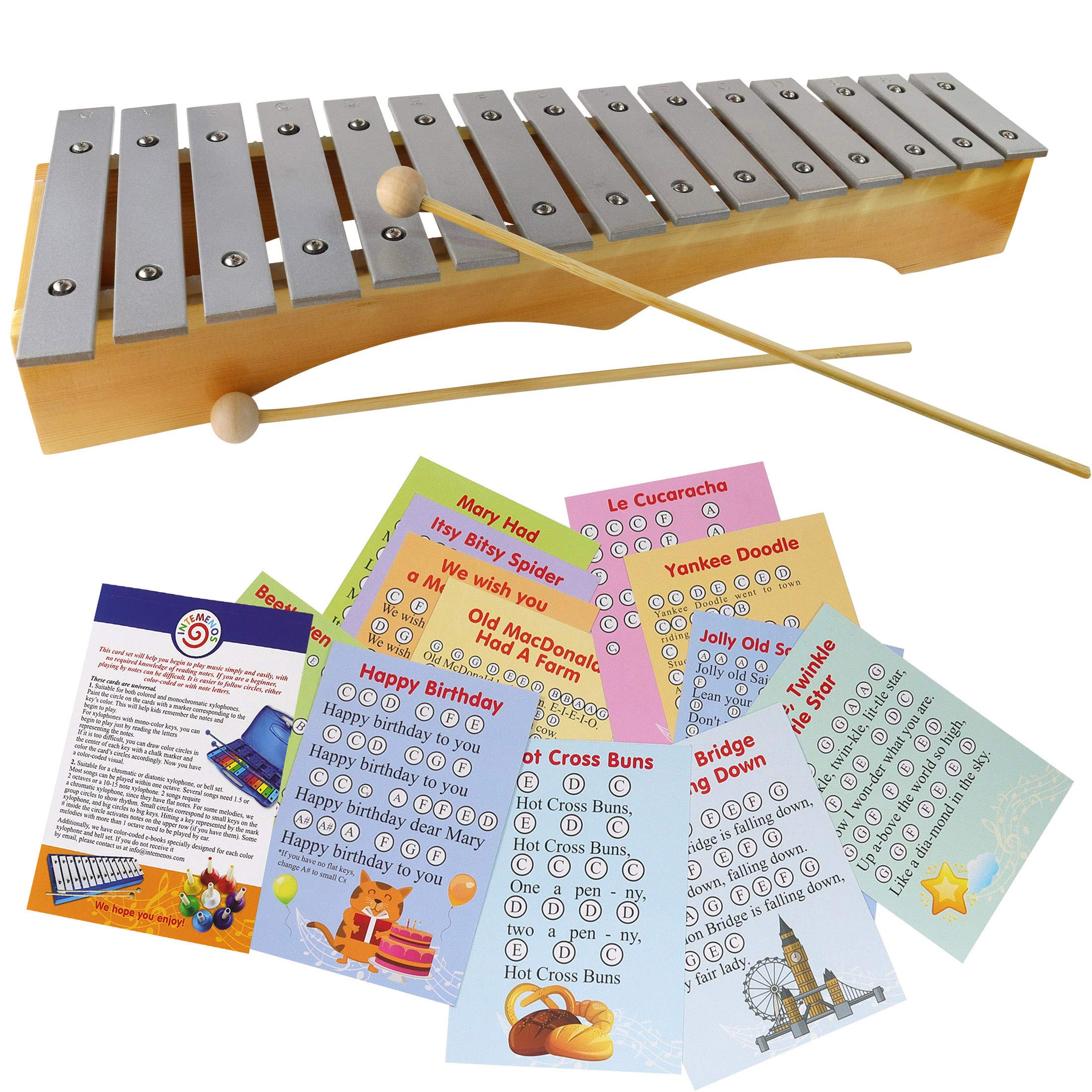 Metal Xylophone for Adults - Professional Diatonic Glockenspiel by inTemenos