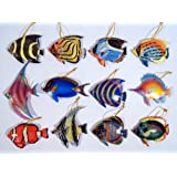 "Wholesale Pack Hand Painted Tropical Fish Nemo Fish Ornaments 4"" (Set of 12) 39L"