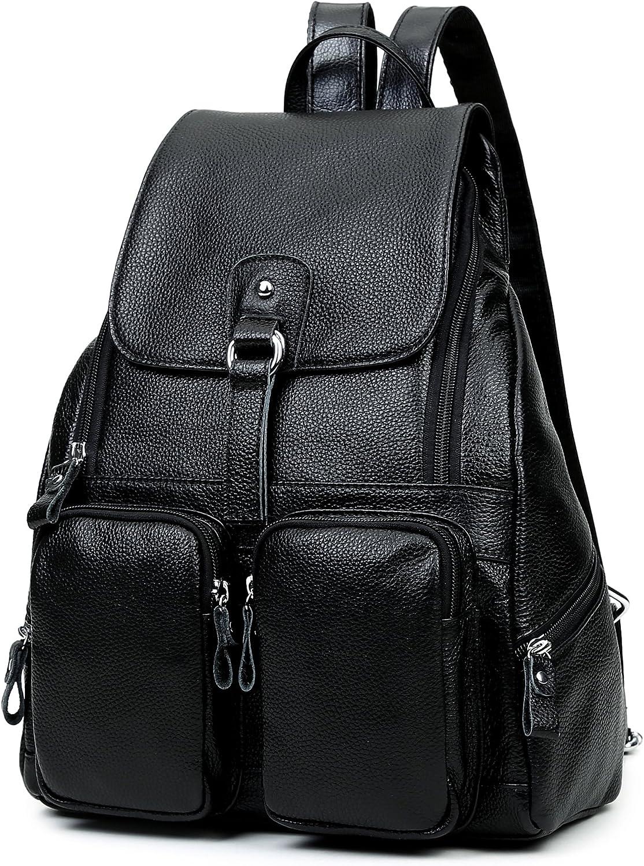 Centenarios Womens Fashion Retro Style Sleek Minimalist Backpack Color : Black