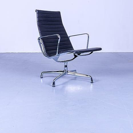 Vitra Charles Eames EA 116 Leder Sessel Schwarz Bürostuhl Echtleder ...