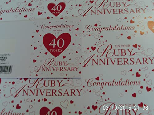 Traditional Ruby Wedding Gifts: 40th Wedding Anniversary Gifts, Engraved 40th Wedding