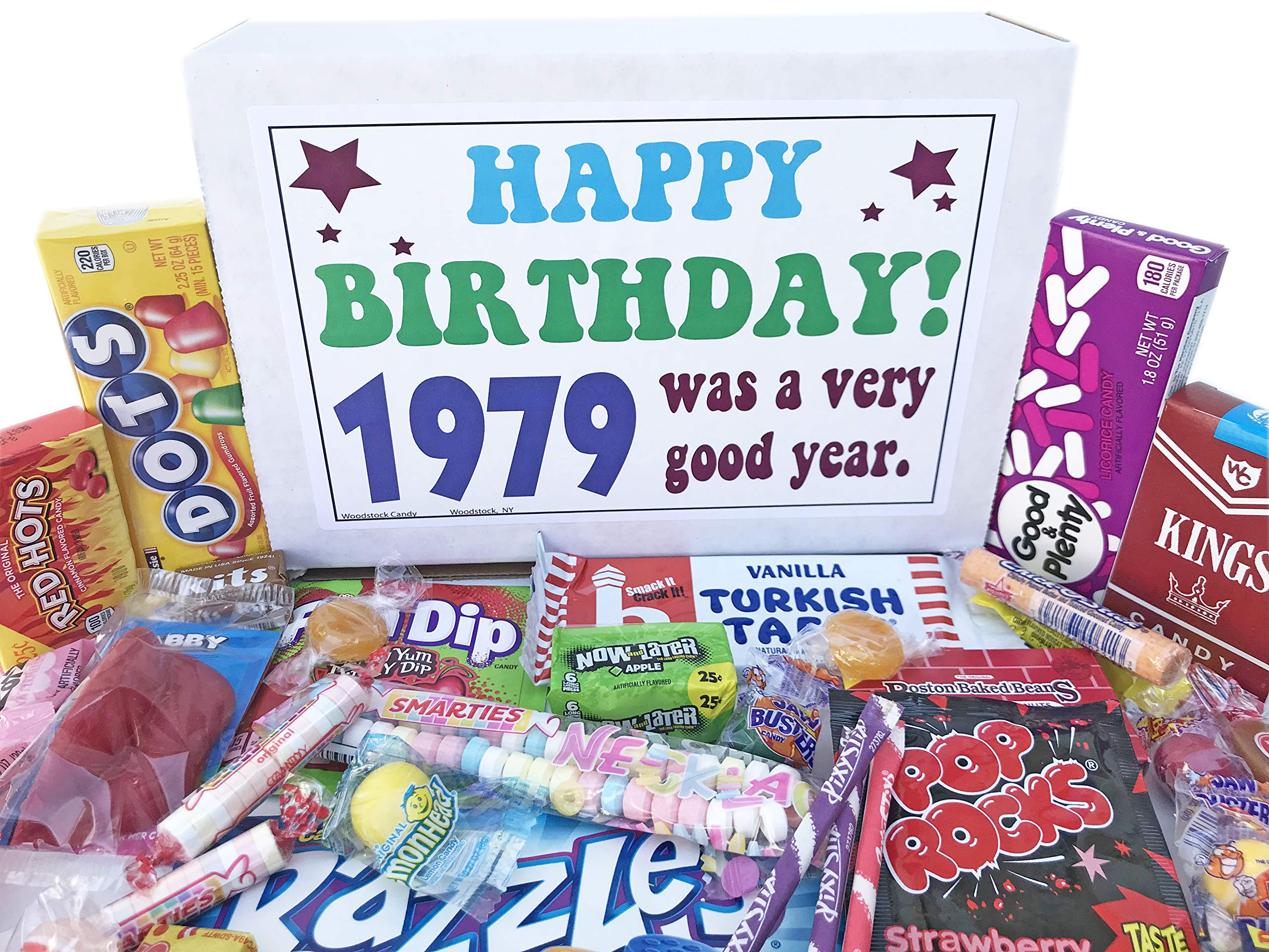 Woodstock Candy ~ 40th Birthday Ideas - Gift Box of Nostalgic Vintage Candy Assortment from Childhood - Birthday Gifts for 40 Year Old Men and Women Born 1979 Jr by Woodstock Candy