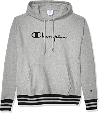 Champion Hoodie Life Mens Reverse Weave Sweatshirt Dye Rib Trim Pullover Vintage